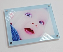 Plexi Sweet family photo block acrylic family frame wall mounted