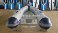 New design rigid hull fiberglass paddle boat With Foldable Transom