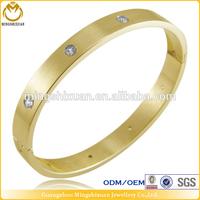 Shiny IPG Crystal Glued On Egyptian Girls Gold Plated Bracelet