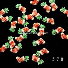 Nail Art 3D Sticker Glitter Holidays Decal Christmas Tree hat