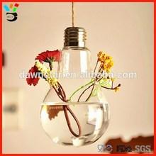 New design creative clear bulb glass vase