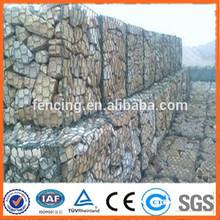 Zin coated Gabion wire mesh/pvc coated gabion baskets(Professional factory)