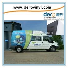 Hot sell 100 micron/120g eco solvent printed self adhesive vinyl film black glue