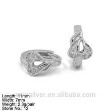 EZZ-0107 Earring Jewelry Hoop Heart Love You Heart Fine Design