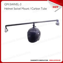 Carbon fiber Go pro Helmet 360 Swivel Rotating Self-shot Arm Go pro accessories GM-SWIVEL-3
