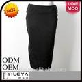 2014 preto novo design de moda senhoras elástica saia longa