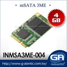 INMSA3ME-004 4GB mSATA supports high-performance data transfer rates