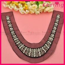 Wholesale Rhinestone Beaded Collar Neck Designs For Women Top WNL-1310