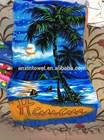 100% cotton custom design promotional reactive printed beach towel