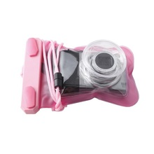 Promotional fashion underwater PVC waterproof digital camera bag for girl