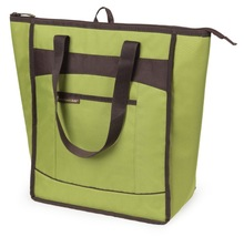 Insulated beach beer cooler tote bag