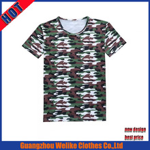 Fashion design dry fit t-shirt full sublimation summer t shirts wholesale green round neck polyester t shirt
