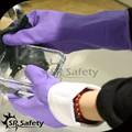 baratos srsafety flocado spray púrpura hogar guantes de látex