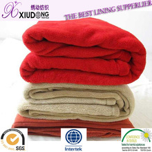 2014 Hot sale 50D/75D/100D 100% polyester super soft types fleece fabric/fleece lining fabric