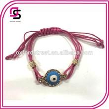 2015 Wholesale promotional red bracelet evil eye