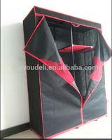 uniquely assemble folding non woven fabric wardrobe sliding wheels