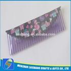 Custom Logo Transparent Plastic Pencil Case With Zipper