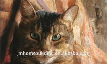 lovely cat oil painting