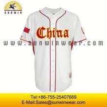 china performance 2 button baseball jersey wholesale