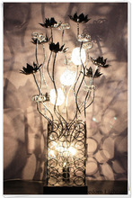 Christmas promotion aluminium wire handmade table lamp