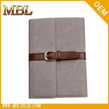 with buckle pu smart leather case cover waterproof bag case for ipad mini