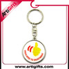 Promotion cheap custom metal keychain with round shape