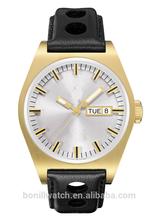 Manufacturers hong kong stainless steel back geneva men gold watch