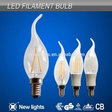 2015 Top selling led candle tail filament bulb E14 C35 Sapphire LED Filament bulb
