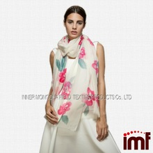Branded Lady Kashmir Handmade Printed Wool Shawl