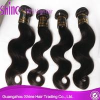 Double drawn no tangle and shedding unprocessed soft guangzhou brazilian hair