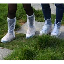 plastic rain transparent dotted shoe covers