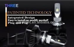 Aviation material 2000 lumen built in fan car led headlamp