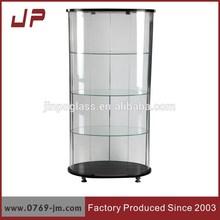 free standing corner wine glass display cabinet