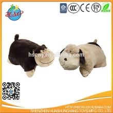 custom cute animals shaped pet plush pillow