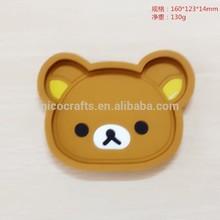 Cute design bear shape silicone Glove compartment
