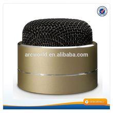 AWS1118 Top Sale Aluminium Alloy Bluetooth portable usb sd card mini speaker fm radio