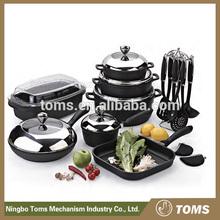22PCS hot sale cookware set removable handles