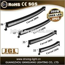 50 inch 120W/180W/240W/288W Curved Cree Led Light Bar, Radius 50'' LED Light Bar Off Road, Car LED Light Arch Bent 4x4