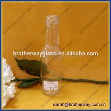 150ml long neck juice glass bottle with screw cap