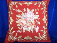 manufacturer decorative artificial silk embrodiery sofa cushion