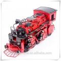 1947 motor de vapor del metal rojo modelo de tren de cabeza para decoración de hogar