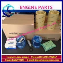 Doosan excavator engine parts piston ring cylinder head gasket camshaft turbocharge repair kit