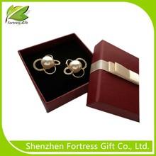 Luxury custom logo printed gift velvet paper jewelry box jewelry gift paper packaging box