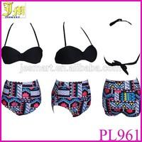 New Vintage High Waist Bikini Brazilian Swimwear Women Bandage Swimsuit Push Up Bikini Set Brand Swimwears Bathing Suit Biquini