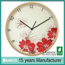 plum blossom picture thin clock frame wall clock wood marine
