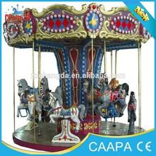 Best selling fiberglass carousel horses for sale 2 seats carousel horse machine game