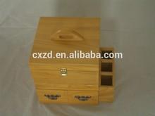 Excellent workmanship wood cosmetics case with mirror