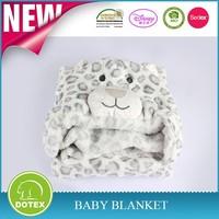 Soft plush fleece kids blanket, monkey animal coral fleece baby blanket Animal Hooded Cloak
