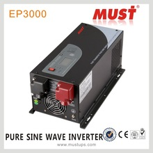 lcd pure sine wave 3000va inverter 12vdc charge current 65A max CE certificate
