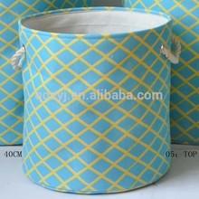 canvas fabric laundry basket with EVA